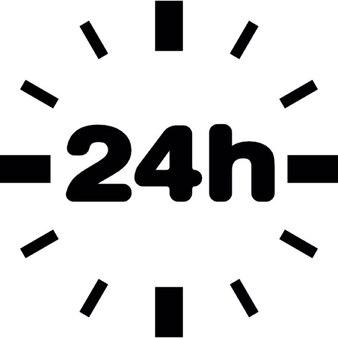24-godzinny bez obramowania