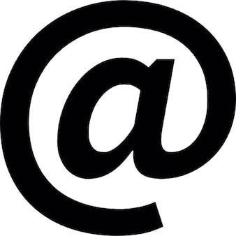 Arroba, symbol ios 7 interfejs