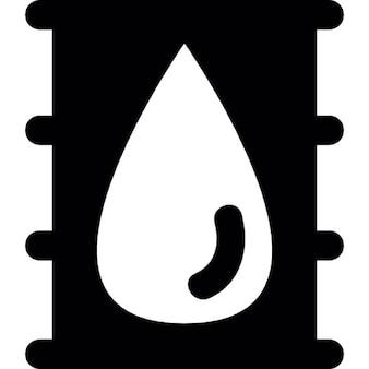 Baryłki ropy z kropli obrazu