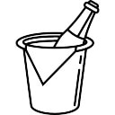 Butelka szampana z łyżką