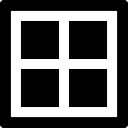 Cztery kwadraty z kształtu ramki