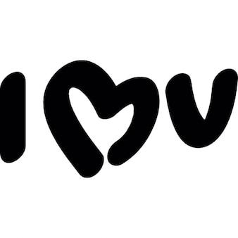 Kocham was symbole