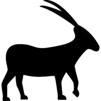 Koziorożec kozy zwierzęcy kształt znaku zodiaku