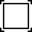 Kwadratowa rama z czterema kątami symbol