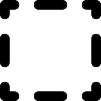Linie przerywane obramowanie kwadratowy