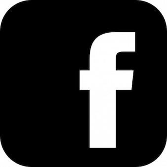 Logo facebook z zaokrąglonymi narożnikami