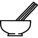Miska z pałeczkami