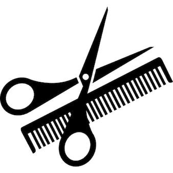 Nożyczek i grzebienia