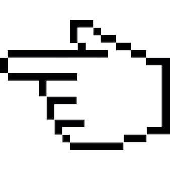 Palec wskazujący na lewo