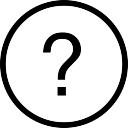 Pytania okrągły przycisk