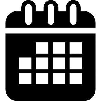 Symbol interfejs kalendarza z placów w zaokrąglonym kształcie prostokąta z wiosną na górnej granicy