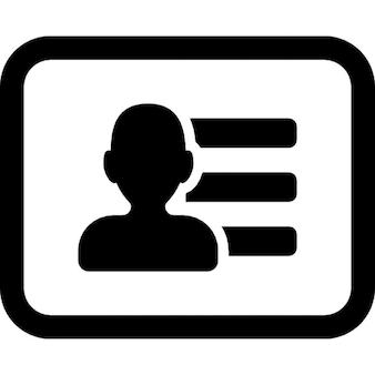 Wizytówka człowieka z informacji kontaktowych