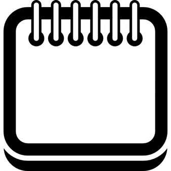 Zarys kalendarz stronę placu z wiosną na górnej krawędzi