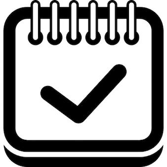 Znak weryfikacji na stronie kalendarza z interfejsu symbol wiosny górnej granicy na zaokrąglonym zarysie prostokąta
