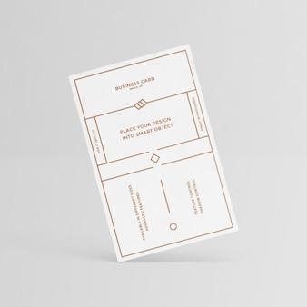 Biała wizytówka projekt