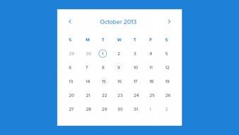 Miesiąc szablon kalendarza