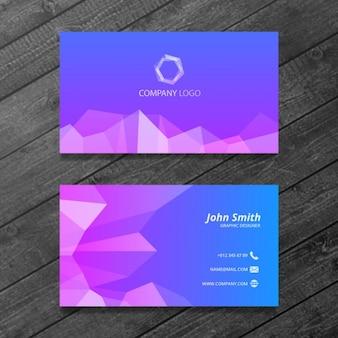 Niebieski i fioletowy wizytówka szablon