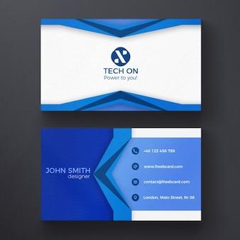 Niebieski nowoczesny szablon wizytówka