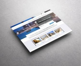 Rezerwacja podróży web template
