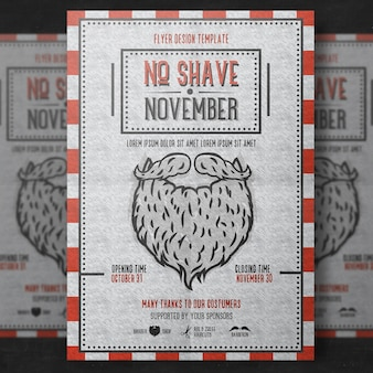 Szablon plakatu Movember