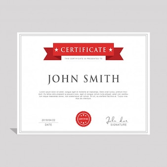 Szablon PSD certyfikatu