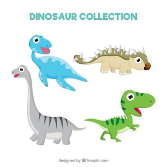 Ładne i przyjemne małe dinozaury