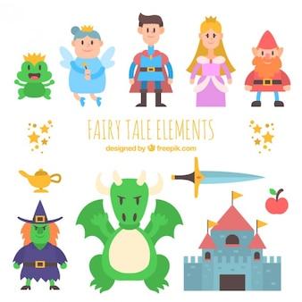 Ładny zbiór fantastycznych bohaterów