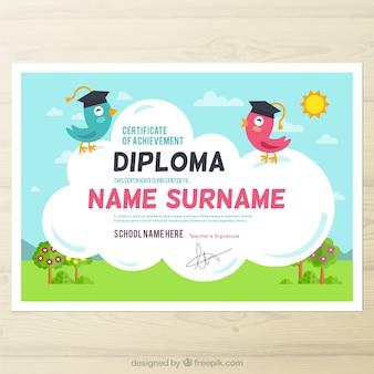 Śliczne dyplom