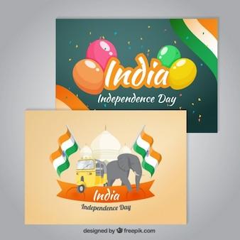 Śliczne Indie niepodległości kart dziennie