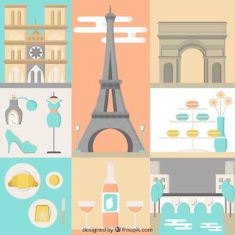 Śliczne paris Ilustracja