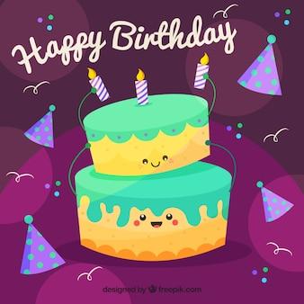 Śliczne szczęśliwe tło urodzinowe