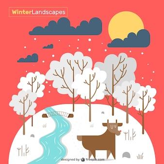 Śliczne zimowy krajobraz
