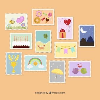 Śliczne znaczki pocztowe