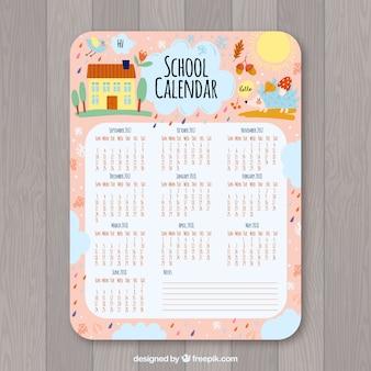 Śliczny kalendarz szkoły