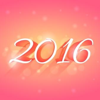 świecące 2016 Nowa karta lat