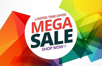 świetny kolorowy sprzedaż transparent ze szczegółami oferty