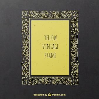 Żółty zabytkowe ramki