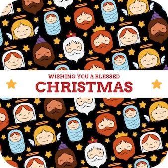 Życzymy błogosławiony kartki świąteczne