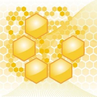 żółty plaster miodu sześciokąt geometryczne tle