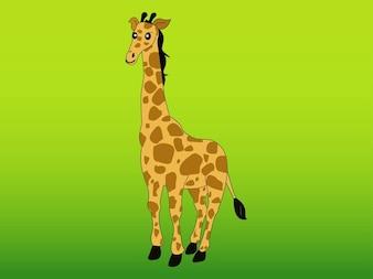 żyrafa afryka wektor znaków
