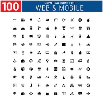100 Uniwersalny Ikona