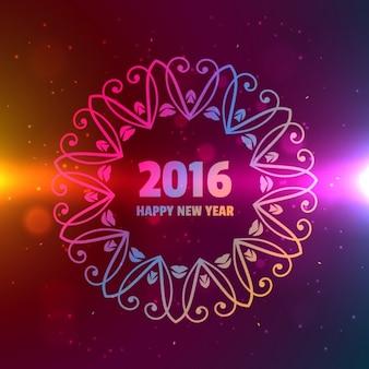 2016 Szczęśliwego nowego roku tła z ornamentem