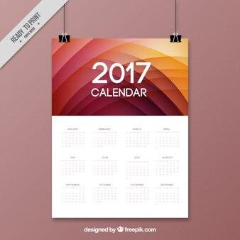 2017 kalendarz w sposób abstrakcyjny wzór