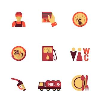 9 ikon stacji benzynowej