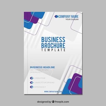 Abstrakcyjna biznesowych broszura
