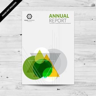Abstrakcyjna wielokolorowe szablonu projektu raportu rocznego