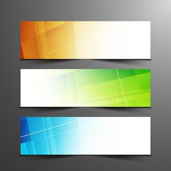 Abstrakcyjne kolorowe transparenty geometryczne