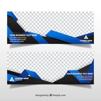 Abstrakcyjne kształty transparenty biznesowe