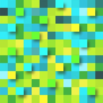 Abstrakcyjne tło z zielonym i żółtym papierze kwadraty.
