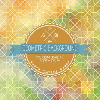 Abstrakcyjne t? A, geometryczny wzór, ilustracji wektorowych. Geometryczna teselacja kolorowej powierzchni. Styl witraży okiennej. Streszczenie rozmycie kolorów.